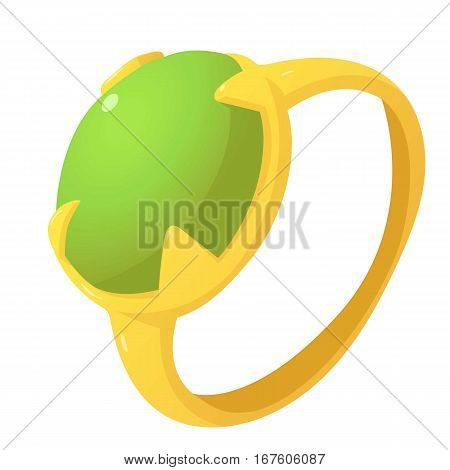 Precious ring icon. Cartoon illustration of precious ring vector icon for web