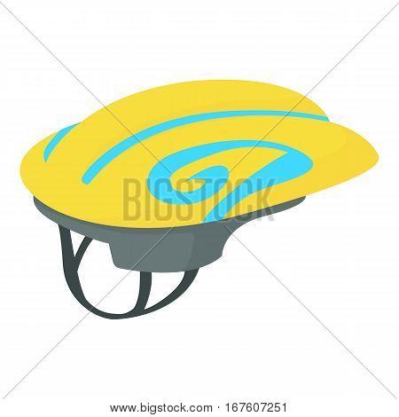 Sport helmet icon. Cartoon illustration of sport helmet vector icon for web