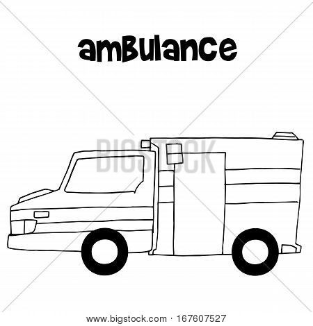Ambulance of vector art illustration collection stock