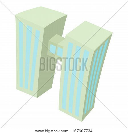 Double building icon. Cartoon illustration of double building vector icon for web