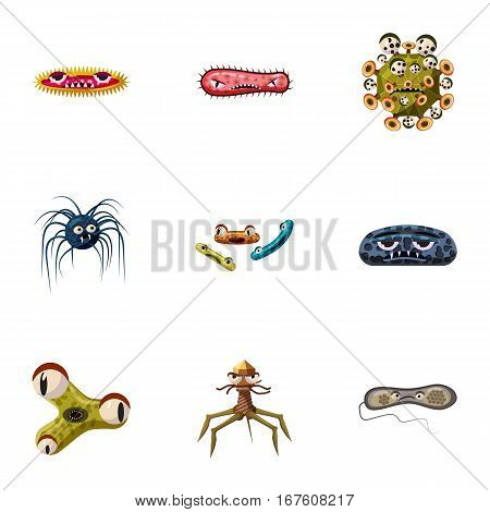 Illness icons set. Cartoon illustration of 9 illness vector icons for web
