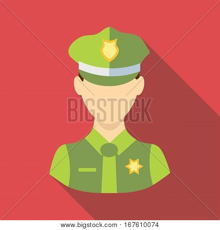 Policeman icon. Flat illustration of policeman vector icon for web design