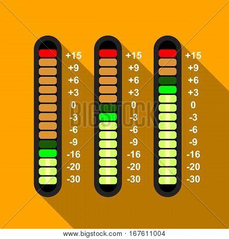 Studio mixer icon. Flat illustration of studio mixer vector icon for web design