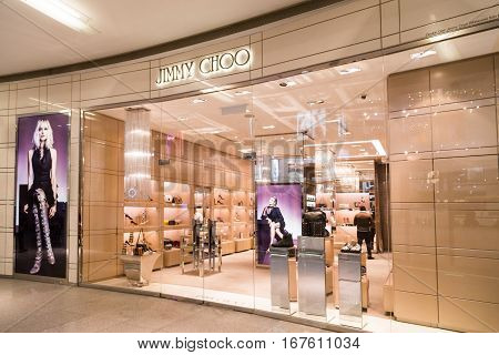 Kuala Lumpur, Malaysia -  January 29, 2017: Jimmy Choo Is High Fashion House Specialising In Shoes,