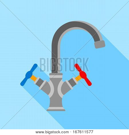 Water tap icon. Flat illustration of water tap vector icon for web design