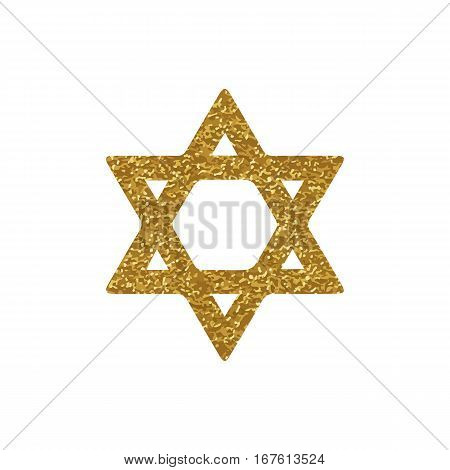 Vector image of David star. Jewish symbol