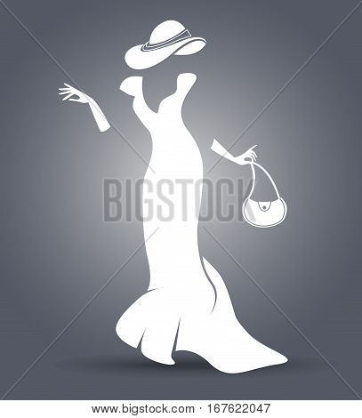 Black And White Silhouette Of A Lady