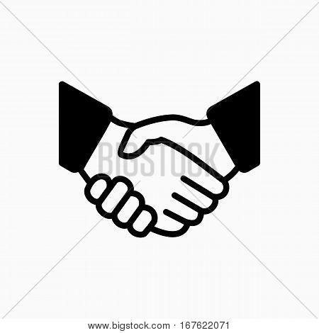 Handshake Icon Simple Vector Illustration. Deal Or Partner Agreement Symbol