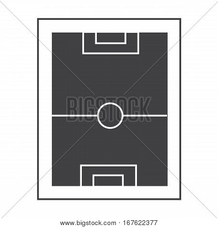 football pitch icon on white background. football pitch sign symbol.