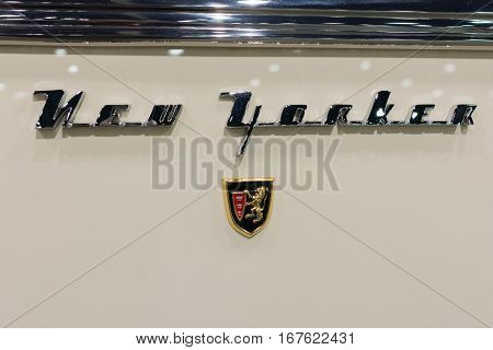 Chrysler New Yorker Emblem On Display