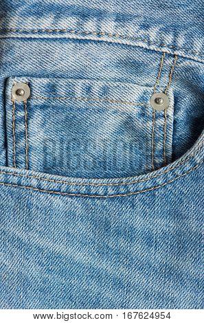 Mini Pocket In Blue Jeans