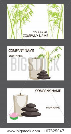 vector illustration of business card set spa and salon
