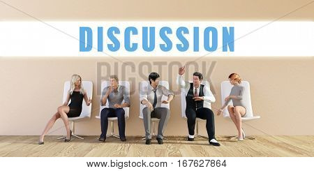 Business Discussion Being Discussed in a Group Meeting 3D Illustration Render