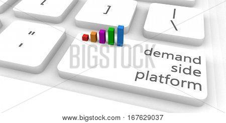 Demand Side Platform or DSP as Concept 3D Illustration Render
