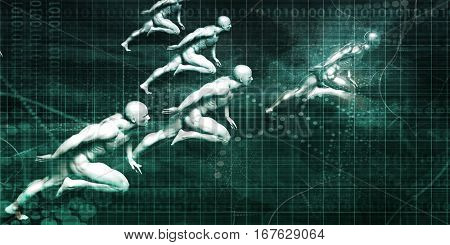 Industry Leader as a Business Concept Abstract Background 3D Illustration Render