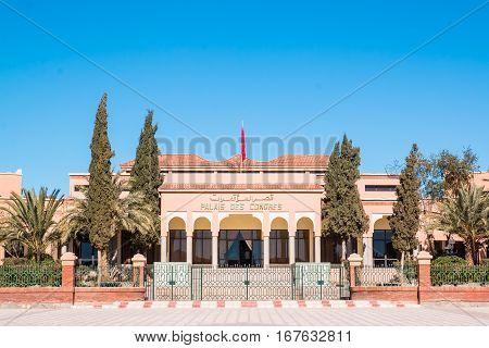 Palace of Congress in Ouarzazate Morocco main entrance