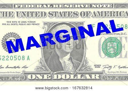 Marginal - Financial Concept