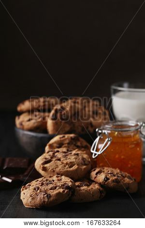 Food. Cookies on the table