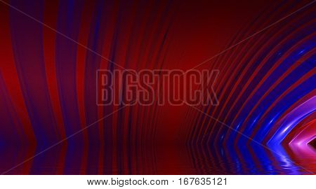 Blur illustration. Abstract background, fractal design over water reflection. cosmic and fantasy backdrop