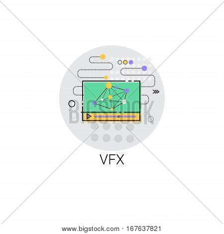 Vfx Camera Film Production Industry Icon Vector Illustration