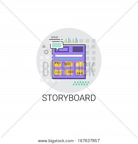 Story Board Camera Film Production Industry Icon Vector Illustration