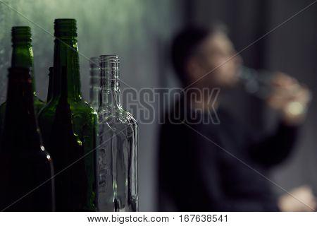 Empty Bottles Of Alcohol