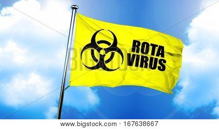 Rota virus flag, 3D rendering