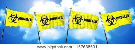 Rubella flag, 3D rendering