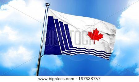Scarborough flag, 3D rendering