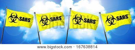 Sars flag, 3D rendering