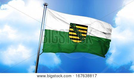 Saxony, sachsen flag, 3D rendering