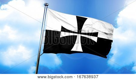 Teutonic knights flag, 3D rendering