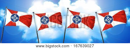 Wichita flag, 3D rendering