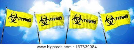 Typhus flag, 3D rendering