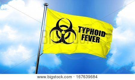 Typhoid fever flag, 3D rendering