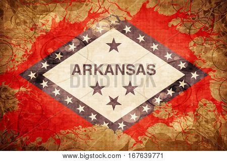 Vintage arkansas flag