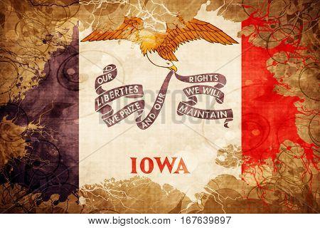 Vintage iowa flag