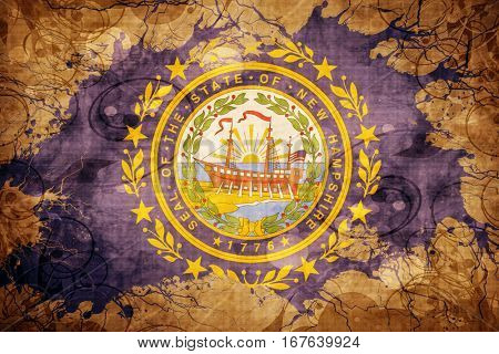 Vintage new hampshire flag