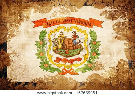 Vintage west virginia flag