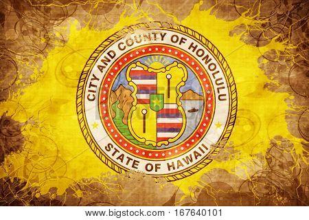 Vintage Honolulu flag