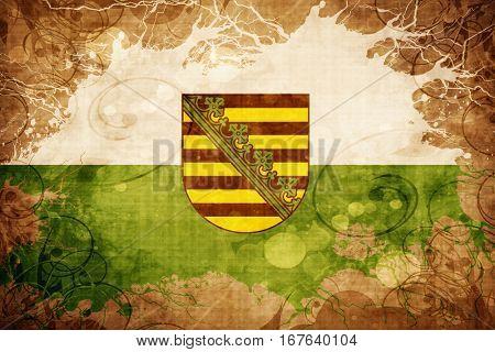 Vintage Saxony, sachsen flag