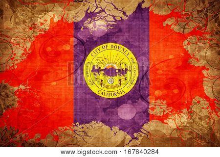 Vintage Downey flag