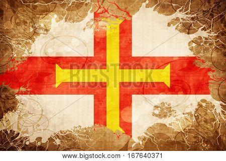 Vintage Guernsey channel island flag