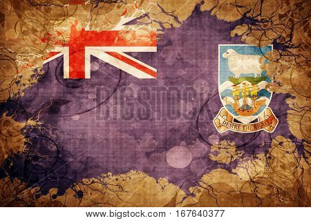 Vintage Falkland islands flag