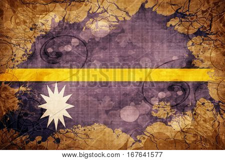 Grunge vintage Nauru flag