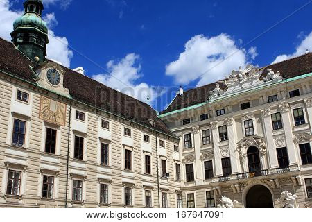 Hofburg palace is a former imperial palace in the center of Vienna, Austria