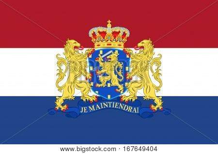Flag of Netherlands or Kingdom of the Netherlands. Vector illustration