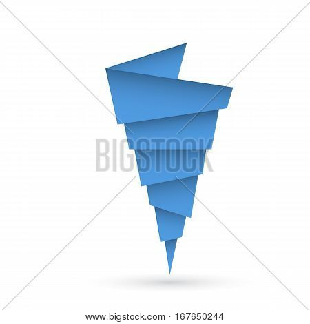 Vector flat picture of the climatic phenomena of a tornado or typhoon
