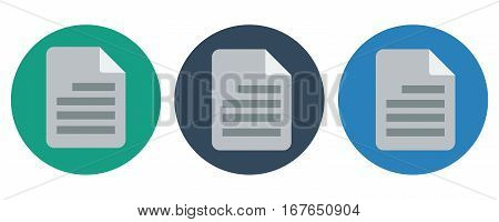 Document icon Vector illustration on white background