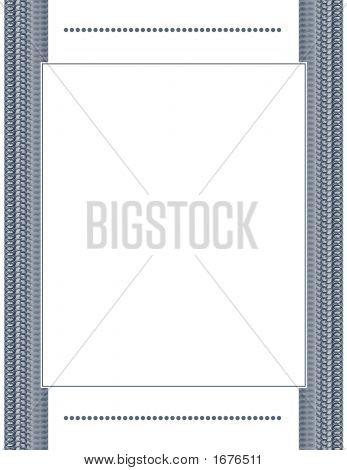 Elegant Blue Document Frame